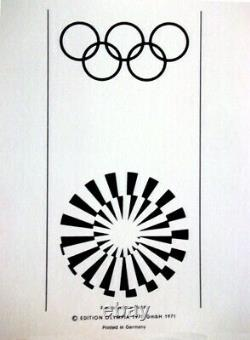 Otmar Alt 1972 Original Olympic Games Munich Affiche 40 X 25 (édition 3)