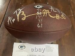 Packers 2018 Jeu De Football D'occasion Wilson Signé Ball Coa Aaron Rodgers & A. Jones