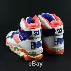 Patrick Ewing Signed Jeu D'occasion New York Knicks Suivant Chaussures De Sport Chaussures Jsa Loa