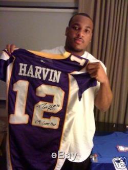 Percy Harvin Jeu Occasion Signé / Dédicacé Jersey Minnesota Vikings Rookie