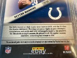 Peyton Manning 2011 Certifié 2 Couleurs Jeu Jersey Patch Auto /10 29 Bgs 8.5 = Psa