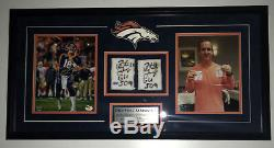 Peyton Manning Signed Jeu Wrist Bands Occasion Photo Encadrée Fanatics Authentique Coa