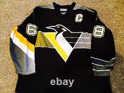 Pittsburgh Penguins 1990s Jaromir Jagr Jeu Usé / Utilisé Et Signé Jersey
