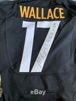Pittsburgh Steelers 2012 - Maillot Usé - Maillot Usé - Loa Signé Par Mike Wallace