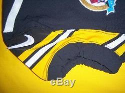 Pittsburgh Steelers 2012 Mike Wallace Signé Loa Jeu Utilisé Worn Hof 50yrs Jersey