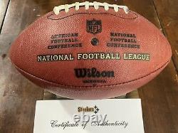 Pittsburgh Steelers Jeu Utilisé Football Signé 2008 Saisons Super Bowl Coa Rare