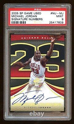 Psa 9 Michael Jordan 2005 Sp Jeu Utilisé Gold Signature #23/23 Iconic Card Hof Wow