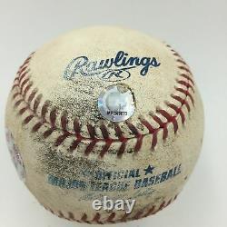 Rafael Palmeiro A Signé Le Jeu Utilisé Texas Record Breaking Home Run #25 Baseball