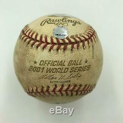 Randy Johnson A Signé 2001 World Series Jeu 6 Jeu Utilisé Baseball Steiner Coa