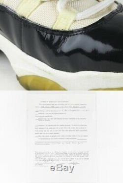 Rare95-96 Michael Jordan Jeu Utilisé Worn Signé Air Jordan Concord 11 Chaussures De Sport