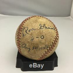 Rare 1953 Rose Gacioch Signé Aagpbl Jeu Utilisé Ligue De Baseball De Leur Auto