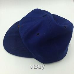 Rare 1975 Hank Aaron Jeu Milwaukee Brewers Anciens Et D'occasion Baseball Cap Hat Adn Psa