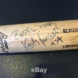 Rare 1986 Kirby Puckett Signé Jeu Batte De Baseball Utilisée Avec Psa Dna Coa Gu 9