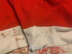 Rare Joe Kocur Red Wings De Hockey CCM Jeu Utilisé Bâton Jersey Lot Joey Signé Worn