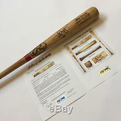 Rare Mark Mcgwire 1999 Jeu Signé Utilisé Batte De Baseball Psa Adn Coa Usage Fort