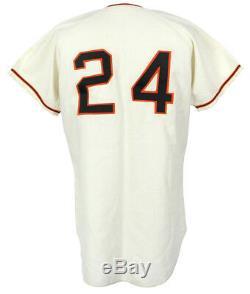 Rare Willie Mays Signé 1967 San Francisco Giants Jersey Jeu Utilisé Avec Jsa Coa