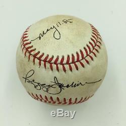 Reggie Jackson 11 Mai 1985 Jeu Signé Adn Ligue Américaine De Baseball Psa