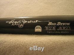 Reggie Jackson Jeu Bat Usée Et Signée Rawlings (yankees)