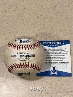 Rickey Henderson A Signé Jeu Utilisé Baseball Hit # 2,979 Beckett & Henderson Loa