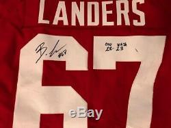 Robert Landers Ohio State Buckeyes 2019 Rose Bowl Jeu Utilisé Jersey Signé Avec Loa