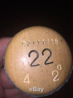Robinson Cano 2015 Dna Psa Signé Inscribed Jeu Utilisé Bat Yankees Jeter