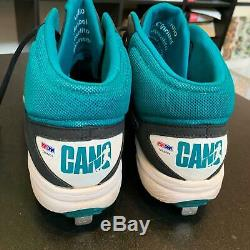 Robinson Cano Jeu Signé Chaussures Crampons D'occasion (2) Seattle Mariners Psa Dna Coa