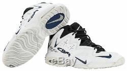 Rockets Charles Barkley Jeu Signé 1996-97 Utilisé Chaussures Nike Air Cb4 Psa & Mears