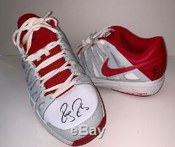 Roger Federer Match Worn 2012 Utilisé Chaussures De Jeu Signé Pair. Beckett Bas + Rf Coa