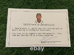 Ronald Acuna Jr. Atlanta Braves Jeu Utilisé Gants Batting 2020 Signé Loa