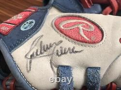 Ruben Sierra Signed Game Used Glove 4x All-star, Rangers, Yankees, A's
