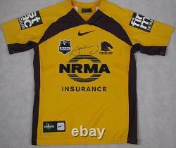 Sam Thaiday Hand Signed'rare' Players Game Worn Brisbane Broncos Jersey #12