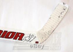 Scott Darling Chicago Blackhawks Signé Autographié Jeu Bâton Guerrier Utilisé Un