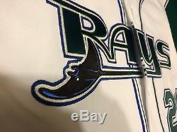 Scott Kazmir Tampa Bay Devil Rays Jeu Occasion Et Signed Accueil Jersey Vest- Mears A10