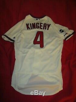 Scott Kingery Phillies 2019 Jeu Utilise Dédicacées Signe Accueil Alternate Jersey