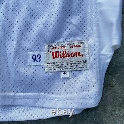 Seattle Seahawks 1993 Cortez Kennedy Hof'12 Jeu Porté/used Signed Jersey Wilson