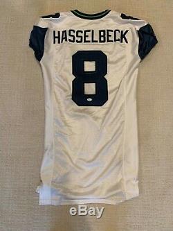 Seattle Seahawks Matt Hasselbeck A Dédicacé Jeu Utilisé / Porté / Publié Jersey Withcoa