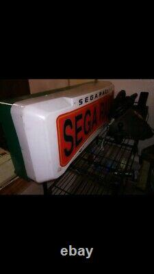Sega Rally Vtg 80s Authentic Display Inscrivez-vous Light Up Retail Store / Game Room! Rare