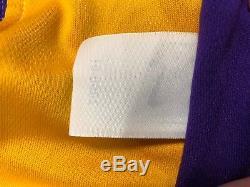 Shaq O'neal Shaquille Signé Jeu Utilisé Los Angeles Lakers Basketball Jersey Psa
