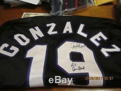 Signe 1998 All Star Game Juan Gonzalez Jeu Utilisé Jersey Mvp