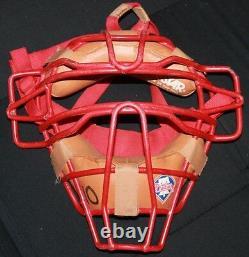 Signé Game-used Philadelphia Phillies Darren Daulton Catchers Mask Jsa Coa Auto