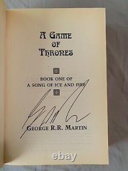 Signed Game Of Thrones, George R R Martin, Advance Reader's Copy (arc), Avec Dj