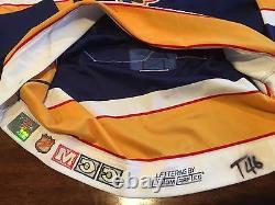 St Louis Blues Brett Hull 1993-94 Jeu Usé Et Signé Maillot De Hockey Des Séries Éliminatoires