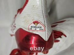 Stanley Morgan Jr. Jeu Utilisé Worn Signé Crampons Nebraska Cornhuskers Adidas