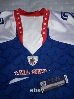 Taille 54 Reebok 2010 NFL Pro Bowl #21 Antrel Rolle Jeu Émis Jersey Signé