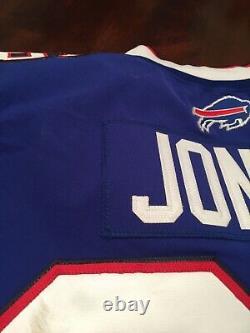 Taiwan Jones Buffalo Bills Jeu Utilisé Worn Jersey Signé Capitaines Auto Patch