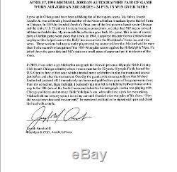 Taureaux Michael Jordan Jeu Signé Utilisé 17/04/1998 Chaussures Nike Air Jordan XIII Jsa