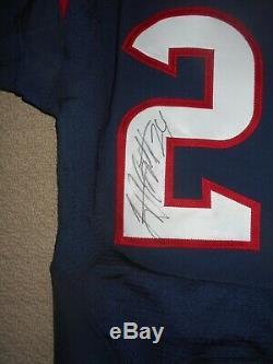 Texans 2013 Game-occasion Bleu Autographed Jersey De Cb @ 24 Johnathan Joseph