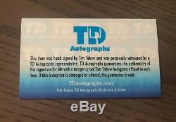 Tim Tebow Jeu Utilisé Autographe 2018 Uncracked Bat Autographié Signé Hetsram Mets