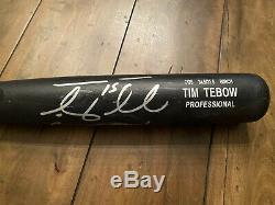 Tim Tebow Jeu Utilisé Fissurée Signe Rawlings Bat Mets De New York Tebow Coa