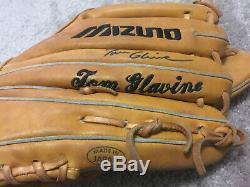 Tom Glavine Braves Jeu Signé Mets Utilisé Autographe Gant De Baseball Mizuno Psa